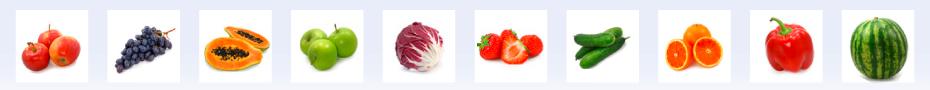 Unzählige Obst- und Gemüsesorten -alles hier bei Lührs